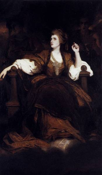 Portrait Of Mrs Siddons As The tragic Muse